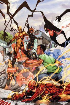 Professor Zoom vs Flash by BRETT BOOTH and NORM RAPMUND
