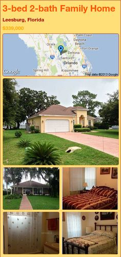 3-bed 2-bath Family Home in Leesburg, Florida ►$339,000 #PropertyForSale #RealEstate #Florida http://florida-magic.com/properties/16282-family-home-for-sale-in-leesburg-florida-with-3-bedroom-2-bathroom
