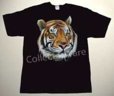 Tiger drawing 1 CUSTOM ART UNIQUE T-SHIRT   Each T-shirt is individually hand-painted, a true and unique work of art indeed!  To order this, or design your own custom T-shirt, please contact us at info@collectorware.com, or visit http://www.collectorware.com/tees-1animals.htm