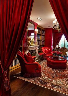 Residence of Ricardo Barroso - Home and Garden Decoration Salas Lounge, Red Rooms, Red Interiors, Luxury Interior, Luxury Furniture, Luxury Living, Cheap Home Decor, Interior Decorating, Decorating Ideas