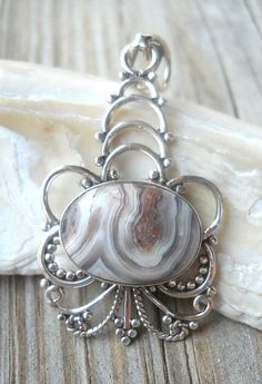 Jasper-Anhänger 925 Sterling Silber von PavlosHandmadeStudio