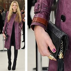 Plum leather trench gorgeousness by Burberry Prorsum of course
