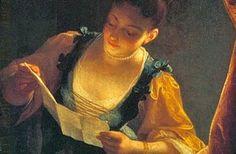 Lezende vrouw, door Jean Raoux