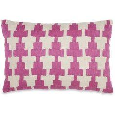 John Robshaw Kandi Embroidered Linen Pillow