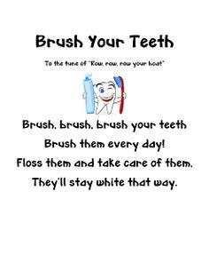 Feb. is dental health month - here is a cute song to teach kids #dentalhealth #dental