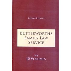 Butterworths Family Law Service Indian Reprint (Set of 10 Volumes) Edition : 2016