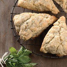 Mojito scones with lime and mint