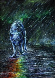 Wolf Heart by WolfRoad on DeviantArt Wolf Photos, Wolf Pictures, Coyote Drawing, Fantasy Wolf, Fantasy Dragon, Wolf World, Shadow Wolf, Mystical Animals, Wolf Life
