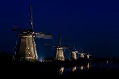 Molens Kinderdijk (nachtfotografie)
