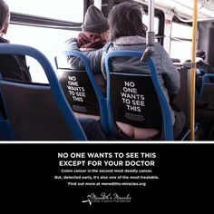 Cancer Awareness Campaign for Colon Health Brings Humor to Buses #cancer trendhunter.com