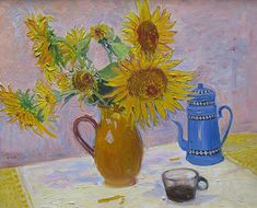 'The Blue Coffee Pot' Oil on Canvas: 60 x 74 cm Signed by Frederick Gore RA (1913 – 2009)
