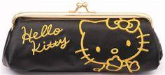 cute black Hello Kitty cat pencil case Sanrio