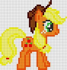 Applejack My Little Pony Perler Bead Pattern / Bead Sprite