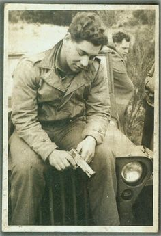 """WWII soldier with M1911-A1 .45ACP - Bullet diameter =.452"""""""