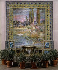 I had no idea tiffany made mosaics - i admired this in person unaware!   Louis Comfort Tiffany: Garden Landscape and Fountain (1976.105) | Heilbrunn Timeline of Art History | The Metropolitan Museum of Art
