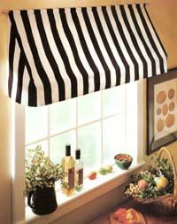 Black and white stripe Kitchen Awning