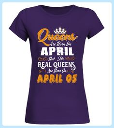 Real Queens are born on April 05 - Valentinstag shirts (*Partner-Link) Funny Volleyball Shirts, Tennis Shirts, Basketball Shirts, Badminton Shirt, Born In February, January 11, September Birthday, July 10, T Shirts