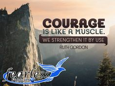 Have you flexed your courage muscles today? Stepping outside of the comfort boat is an integral step to learning to live fearless. Join me on my journey to a fearless life! http://www.fearlesspursuits.com/fearless-living-series-no-03-a-confession-im-paralyzed-with-fear/