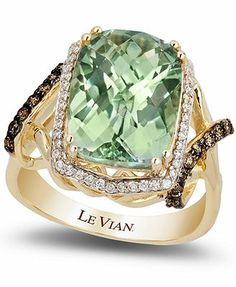 Le Vian Green Amethyst (5-5/8 ct. t.w.) and Diamond (3/8 ct. t.w.) Ring in 14k Gold