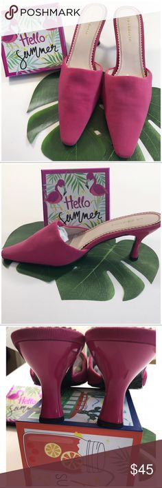 Liz Claiborne summer flex zone! Hot summer pink Claiborne flex zone slips, seriously summer chic!. Only worn for posh modeling they are pristine ( see bottoms) comfort insane. Liz Claiborne Shoes