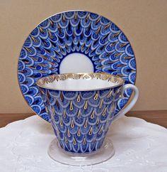 Peacock Tea Cup and Saucer  Set - 2 Sets