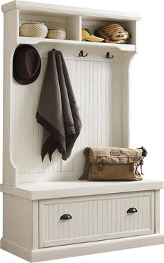 Hall Tree Kit Front Entryway Bench with Coat Rack Shoe Storage Coastal Farmhouse Entryway Hall Tree, Hall Tree Bench, Entryway Decor, Entryway Ideas, Door Hall Trees, Entryway Bench, Entryway Furniture, Furniture Logo, Cheap Furniture