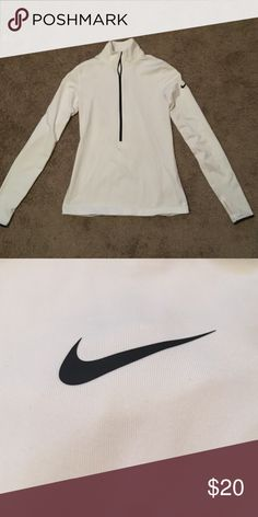 Nike Running long sleeve White tight fitting Nike dri-fit running long sleeve Nike Tops