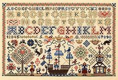 Love Dutch cross stitch samplers