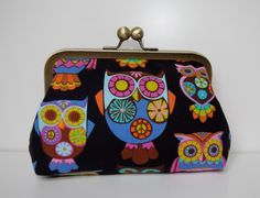 Twitt Twoo  Retro Owl Clasp Purse / Clutch / by LizzieGOriginals, £20.70