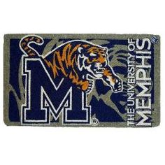 Memphis Tigers Welcome Mat Bleached