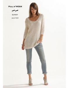 The website Cheval Blanc offers french yarns for knitting. Find a lot balls of wool and free patterns for realise your knits. Knitting Patterns Free, Knit Patterns, Free Knitting, Pull Crochet, Knit Crochet, Diy Tops, Vest Pattern, Pullover, Jumpers For Women