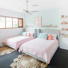 Twins Betty + Sophia were lucky enough to receive a beautiful new bedroom recently and we're so excited to finally share it with you. Captured by @vellumstudios_steve