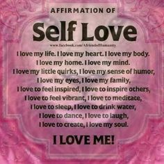 education affirmations self love