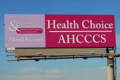 Billboard for Drs. Goodman & Partridge on the Santan Freeway Loop 202.  Health Choice AHCCCS Drs. Goodman & Partridge, OB/GYN Comfortable, convenient healthcare for every stage of your life. www.MomDoc.com  The Santan Freeway Loop 202 is in the south (Learn a Little-Known, But 100% Scientifically-Proven Way To ERASE Your Diabetes in 3 SHORT weeks)