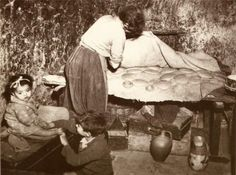 'Bread hidden for fear of thefts - Calabria, Italy' 1948, nd