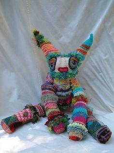 Stuffed art by Karna Erickson ~ love her work...adorable!!