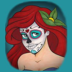Day of the Dead Ariel - NeatoShop