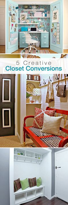 Got Closets? 5 Closet Conversions for Small Homes!