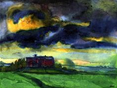 Seebüll, Storm Clouds, (1940) Emil Nolde