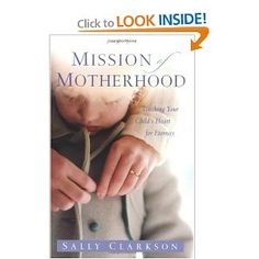 I am taking my sweet time reading this amazing book on motherhood. Sally Clarkson is a true inspiration.