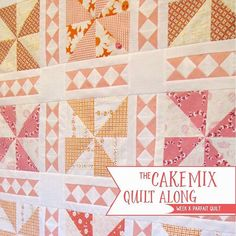 NEW BLOG POST: We are on Week 8 of the sweetest quilt along, the Cake Mix Quilt Along! This week we are featuring the Parfait Quilt by @charisecreates! Click on the link in our profile to check out the entire post! #fqsquiltalong #cakemixquiltalong