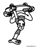 Kid Handstand on Skateboard