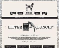 City Dog - nice black and white website for dog training.