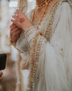 A-Line Wedding Dresses Collections Overview 36 Gorgeou… Pakistani Wedding Dresses, Pakistani Dress Design, Pakistani Outfits, Indian Outfits, Pakistani Clothing, Wedding Hijab, Formal Wedding, Wedding Wear, Nikkah Dress