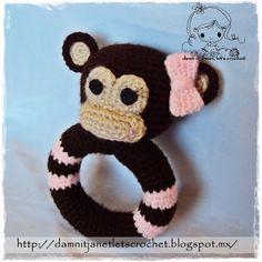 damn it Janet, let's crochet!: Monkey Rattle