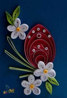 Neli Quilling Art: Preparation for Easter Holidays Quilling Work, Neli Quilling, Quilling Flowers, Quilling Cards, Paper Flowers, Paper Quilling Patterns, Quilling Paper Craft, Quilling Designs, Quilling Instructions
