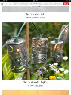 Garden lantern tin punch
