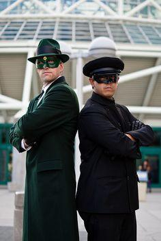Green Hornet and Kato by sdoorly, LA Comikaze 2011, via Flickr