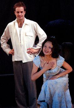 Alfie Boe (Alfred Boe) and Wei Huang in La Boheme December 2002