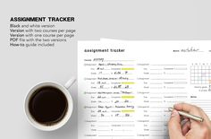 "boligraff: ""Printable: Assignment tracker Requested by So, this one is for adding the assignments you do during the month, write down the due dates, fill the progress bar, include the grade. Printable Planner, Free Printables, Progress Bar, Esquivel, Studyblr, Study Tips, Two By Two, Writing, Journal Inspiration"